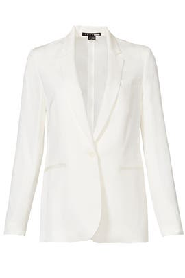 White Grinson Blazer by Theory