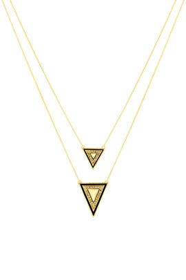 Teepee Necklace by House of Harlow 1960