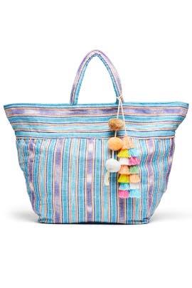 Blue Samui Stripe Bag by JADEtribe