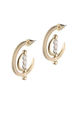 Dahlia Sphere Hoop Earrings by Eddie Borgo