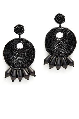 Black Gypsy Hoop Earrings by Kenneth Jay Lane