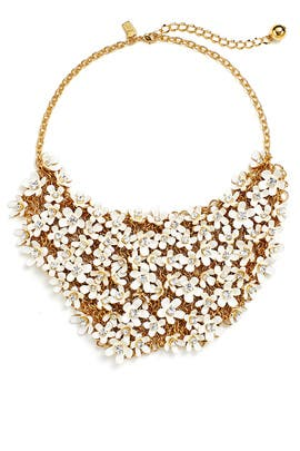 White Pretty Petals Statement Necklace by kate spade new york accessories