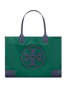 Green Nylon Ella Tote by Tory Burch Accessories