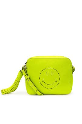 Neon Smiley Crossbody Bag by Anya Hindmarch