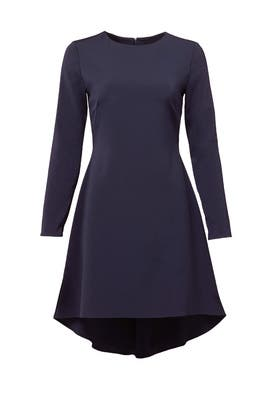 Navy North Dress by nha khanh