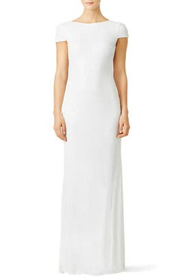 White Award Winner Gown by Badgley Mischka