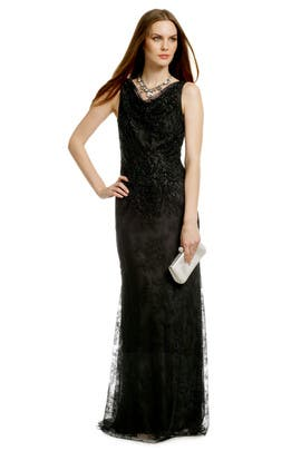 Carmen Marc Valvo - Lady Lace Sequin Gown