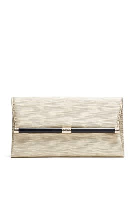 Metallic Twig Leather Clutch by Diane von Furstenberg Handbags