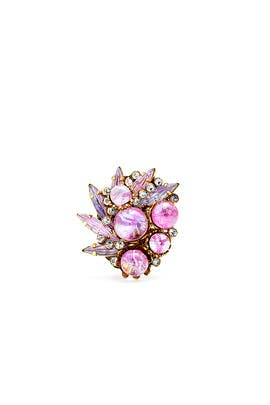 Pink Schism Ring by Erickson Beamon