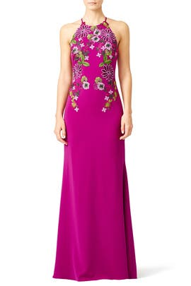 Pink Flower Power Gown by Badgley Mischka