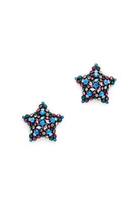Multicolored Bright Star Statement Studs by kate spade new york accessories
