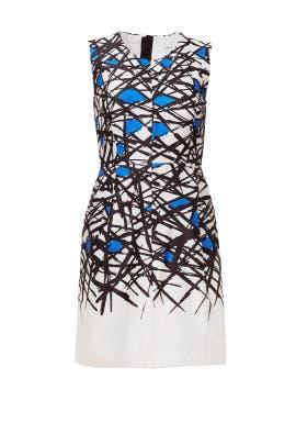 Milly - Cobalt Scribble Print Dress