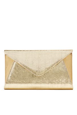 Gold Abigail Clutch by Franchi