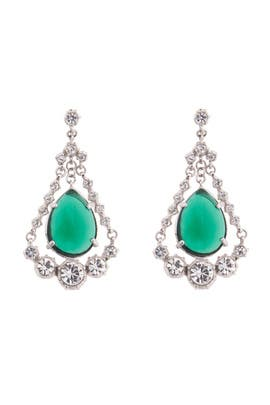Gerard Yosca - Emerald Eye Chandelier Earrings