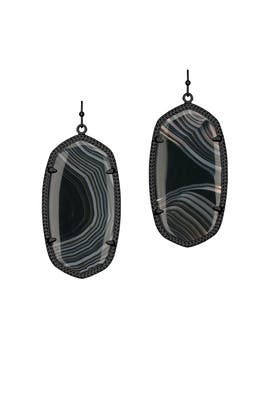 Gunmetal Danielle Earrings by Kendra Scott