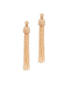 Bead Tassel Earrings by Kenneth Jay Lane