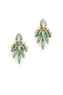 Seafoam Lil' Billie Earrings by Elizabeth Cole