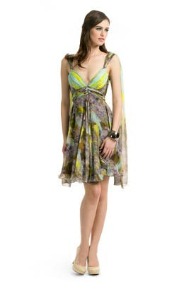 Matthew Williamson - Lime Brushstroke Dress