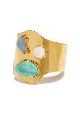 Gold Palace Cuff by Lizzie Fortunato