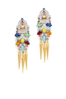 Bright Deco Spike Earrings by Ben-Amun