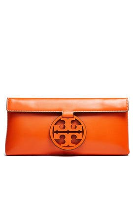 Orange Miller Clutch by Tory Burch Accessories