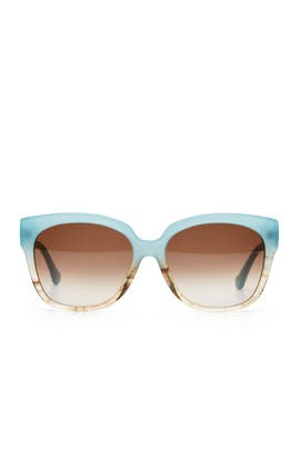 Aquamarine Smoke Sunglasses by Balenciaga Accessories