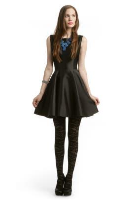 Christian Siriano - Black Mikado Dress