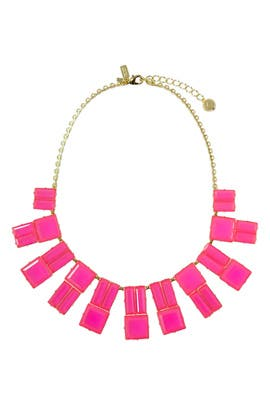 kate spade new york accessories - Pink Hot Chip Statement Necklace
