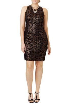 Copper Decadence Dress by Carmen Marc Valvo