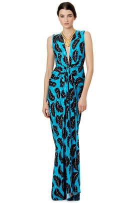 Cascading Feathers Gown by Thakoon