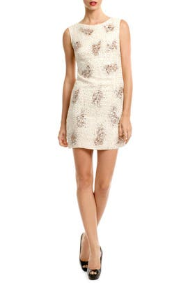 Nude Sequin Cluster Sheath by Badgley Mischka