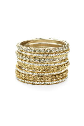 Chamak by Priya Kakkar - Crystal Snake Eye Bangle Set