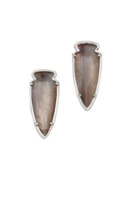 Silver Arrowhead Kathryn Earrings by Kendra Scott