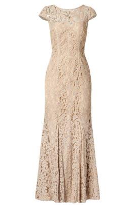 ML Monique Lhuillier - Glitter in Gold Gown