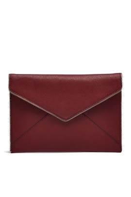 Port Red Leo Clutch  by Rebecca Minkoff Handbags
