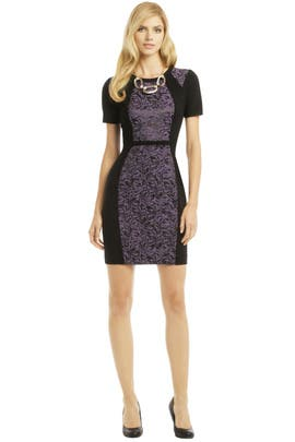 Yoana Baraschi - Purple Rain Contrast Dress