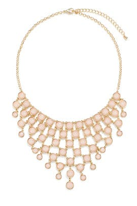 Pink Cascading Stone Necklace by Slate & Willow Accessories
