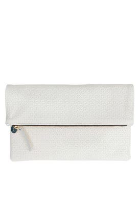 Crosshatch Foldover Clutch by Clare V.