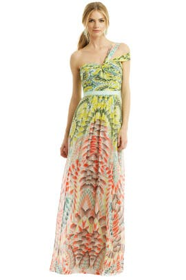 BCBGMAXAZRIA - Inga Abstract Maxi