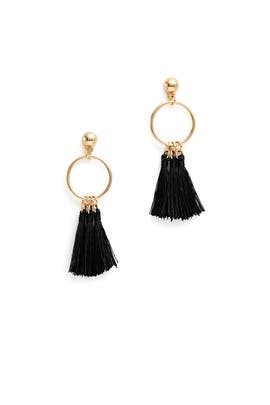 Black Tassel Hoops by Elise M.