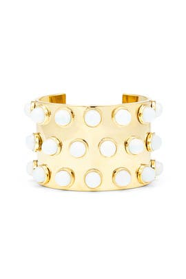 Moonstone Dotted Cuff by Lele Sadoughi