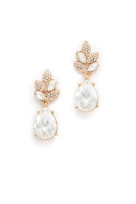 Crystal Leaves Dangling Earrings by Slate & Willow Accessories