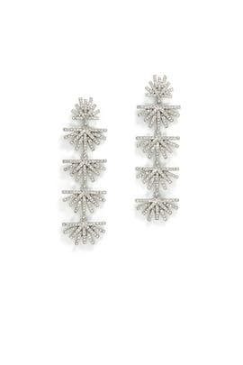 Crystal Palm Grass Earrings by Lele Sadoughi