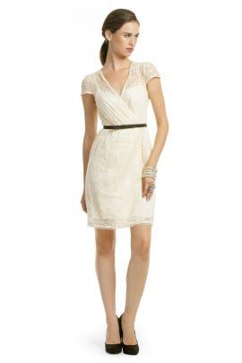 Milly - Ivory Lace Flutter Dress