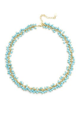 Turquoise Dangly Beaded Choker by Elise M.