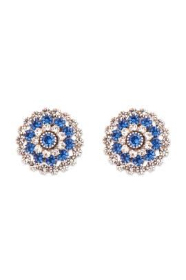 Janis Savitt - Crystalized Blue Mum Earrings