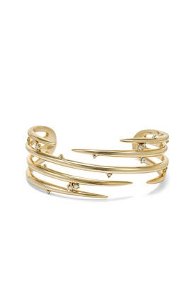 Gold Crystal Layered Cuff by Alexis Bittar