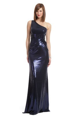 David Meister - Navy Sequin Sultry Gown