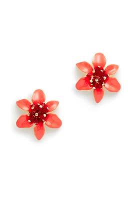 Red Lovely Lilies Statement Studs by kate spade new york accessories