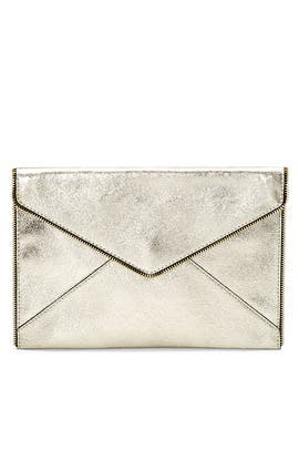 Champagne Leo Clutch by Rebecca Minkoff Accessories